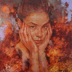 """Reflection"" Joseph Lorusso 12x12 oil on panel"