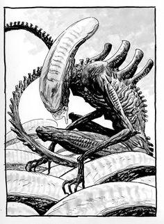 Guy Davis - Alien Comic Art