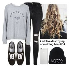 """""""Never Give Up"""" by nerdgirl070 ❤ liked on Polyvore featuring Topshop, Vans and Native Union"""