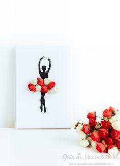 Cuadro DIY bailarina con flores con VIDEO paso a paso