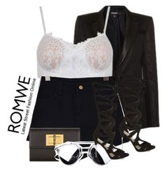 """Denim Black Shorts"" by isabellacarolina161 ❤ liked on Polyvore"