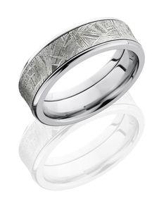Cobalt Chrome Meteorite Men's Wedding Ring
