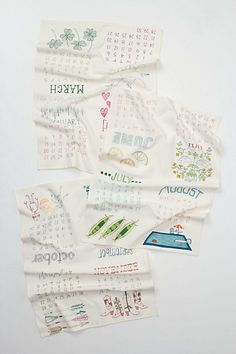 calendar dishtowel set