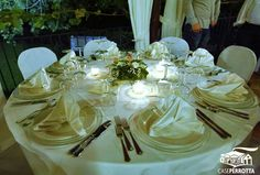 Allestimento per matrimonio gazebo tavoli rotondi