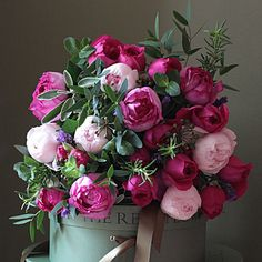 THE REAL FLOWER COMPANY Scented #pink garden #rose & herb bouquet on shopstyle.co.uk