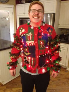 ugly christmas sweater competition one night at the cabinstart looking ugly