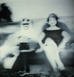 Gerhard Richter: Scheich mit Frau Sheik with his Wife 1966 140 cm x 135 cm Oil on canvas Gerhard Richter, Der Richter, Action Painting, Painting & Drawing, Postmodern Art, Blur Photo, Black And White Painting, National Portrait Gallery, Art For Art Sake