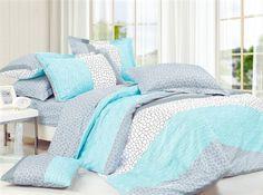 Dove Aqua Twin XL Comforter Set - College Ave Designer Series Cotton Comforters Bed Sets For Girls