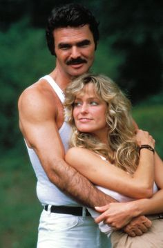 """The Cannonball Run"" promo still, L to R: Burt Reynolds, Farrah Fawcett. After Reynolds break up with Sally Field and Fawcett's divorce from Lee Majors, these two weren't acting on the set of the movie. After a few extra months, the affair was over. Boogie Nights, Charlie Sheen, Farrah Fawcett, All American Girl, American Actress, James Bond, Interview, Burt Reynolds, Star Wars"