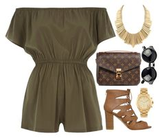 """Earth Tones"" by avonsblessing94 ❤ liked on Polyvore featuring River Island, Louis Vuitton, Belle Noel by Kim Kardashian and Michael Kors"