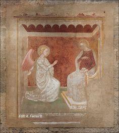 Andrea di Nerio - Annunciazione -  Chiesa di San Pietro a Pezzano di Castiglion Fibocchi (Toscana)