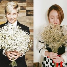 I think buckwheat blossom is something symbolic and special in Korea. Imagine Namjoon giving these flowers to Chaeyoung so romantic #bts #twice #rapmonster #namjoon #chaejoon #chaemon #chaeyoung #bangtwice #oncearmy Buckwheat Flower, Bts Twice, Rap Monster, Bts Boys, Namjoon, Korea, Romantic, Ship, Couples