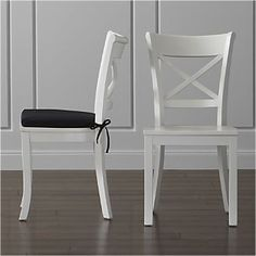 Vintner White Side Chair and Cushion Crate and Barrel