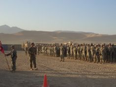 Combat patches presented to 875th Engineer Co. in Afghanistan
