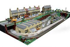Explore Brickset's photos on Flickr. Brickset has uploaded 12756 photos to Flickr. Lego Winter, Lego City Train, Lego Trains, Lego Modular, Legos, Casa Lego, Modele Lego, Lego Plane, Construction Lego