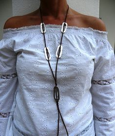 Brown Long Necklace Boho Fashion by JewelMeShop on Etsy, $21.00