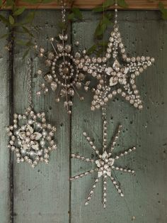 Snowflakes and Stars made from jewels