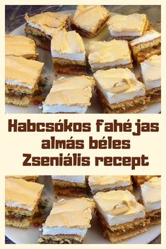 Hungarian Desserts, Special Recipes, Winter Food, No Bake Cake, Cocoa, Sweets, Apple, Homemade, Snacks
