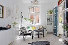Stockholm Apartment by Johanna Laskey Home Adore Small Apartment Design, Small Apartment Decorating, Apartment Interior, Small Apartments, Cozy Apartment, Apartment Living, Danish Apartment, Small Spaces, French Apartment