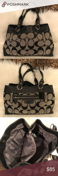 Coach Signature Shoulder Bag Like New! Only used couple of times. Too large for my small build. FIRM price! Coach Bags Shoulder Bags
