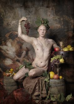 """""""Bacchus"""" Self portrait by Jim Lyngvild for the photo book """"Megalomania""""   Taken with Hasselblad."""