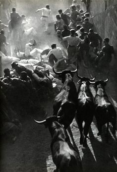 Fiesta in Pamplona  photo by Inge Morath