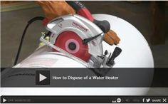 Video: How to Dispose of a Water Heater - We show you how remove and dispose of a water heater. He will show you an easy way to carry a water heater out of your home, even if you are working alone. Watch: http://www.familyhandyman.com/plumbing/water-heater/how-to-dispose-of-a-water-heater