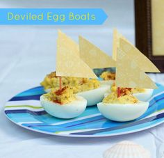 Deviled Egg Boats (Could Make Cuter Sails)
