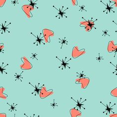 Boomerangs On Mint fabric by mandasisco on Spoonflower - custom fabric