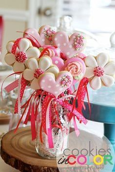 Cookie Bouquet   Cookies In Color   Shannon Tidwell