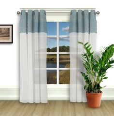30 x 84 Sheer Curtains Kess InHouse Pom Graphic Design Succulent Love Green Orange Decorative Set