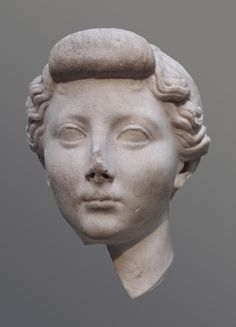 Roman marble portrait of the empress Livia, wife of Augustus. Dated by the British Museum to ca. 25-1 BCE. The find-spot of the portrait is not certain; the work is probably from Italy.