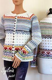 Ravelry: Sylvia pattern by Gitte Bettina Lauridsen - GNIST Sweater Knitting Patterns, Crochet Cardigan, Knitting Stitches, Knit Patterns, Knit Crochet, Punto Fair Isle, Fair Isle Knitting, Knitting For Beginners, Double Knitting