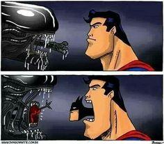 """Alien vs. Superman👽"""