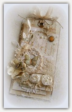 Zuzka SCRAP DECO: The last piece of a series of tags in the style of Shabby Chic
