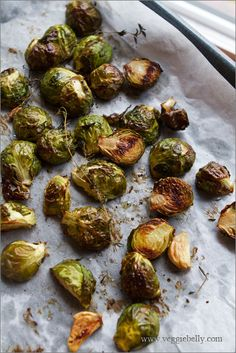 Roasted brussel sprouts. We love these - I use butter instead of olive oil. ~Ricrac
