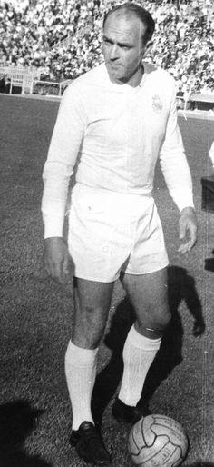 Alfredo Di Stefano Real Madrid History, Real Madrid Team, Football Field, Football Soccer, Association Football, European Cup, International Football, Goalkeeper, All About Time