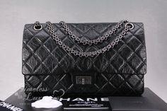1f26c44f056f CHANEL Black Aged Calf 2.55 Reissue Flap 226 Ruthenium Hw. Timeless Luxuries
