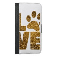 Paw Love iPhone 6/6s Plus Wallet Case - dog puppy dogs doggy pup hound love pet best friend