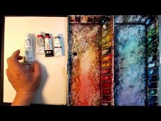 Itir Orcun demonstrating marbling and oil colour on canvas. For more information, please visit http://www.itir.net