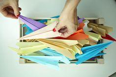 Preparing the #paperaeroplanes