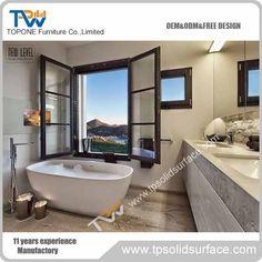 Stone Resin Oval Freestanding Bathtub