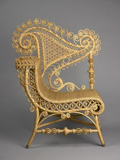 Heywood Brothers & Company, Gardner, MA (active Reception Chair, Art is not a luxury, it is a necessity. Unusual Furniture, Cane Furniture, Funky Furniture, Wicker Furniture, Vintage Furniture, Furniture Design, Diy Chair, Home And Deco, Consoles