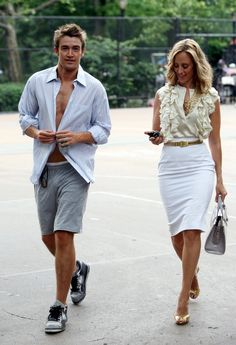 Love this outfit on Kim Raver Lipstick Jungle. Robert Buckley does not look so bad either.