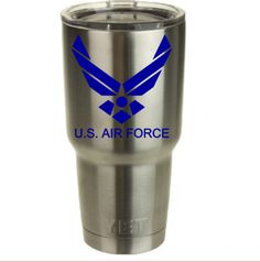 US Air Force Decal for Yeti Cup! by RedandthePug on Etsy