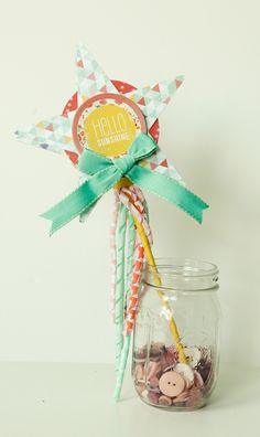 Lucky Charm Magic Wand Tutorial by Jen Chesnick Paper Art, Paper Crafts, Diy Crafts, Baby First Birthday, Happy Birthday, Project Ideas, Craft Ideas, Kid Parties, Party Entertainment
