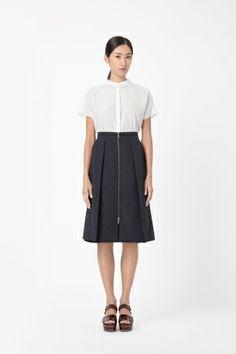 Long structured skirt