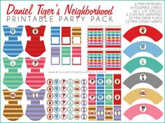DIY PDF Printable Daniel Tiger's Neighborhood  by LuxePartySupply, $14.99