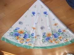 How to recycle a table cloth into a skirt. How To Make A Full Circle Skirt From…