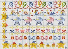 Cross-stitch Borders ... no color chart available, just use pattern chart as your color guide.. or choose your own colors...     Gallery.ru / Фото #10 - 719 - Yra3raza